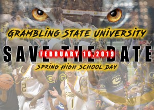 Spring 2019 High School Day - Feb. 16, 2019 - Save the Date