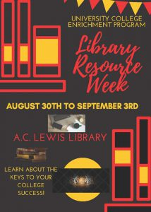 Library Resource Week @ A.C. Lewis Library