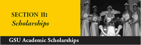 Scholarships image - Miss GSU