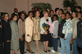 Former Louisiana Governor with GSU Students.