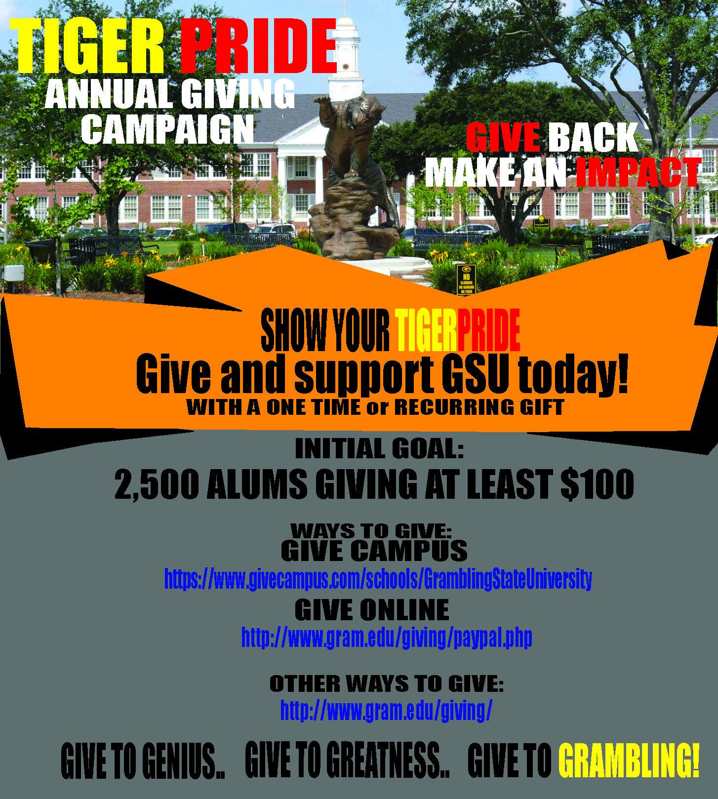 Tiger Pride Annual Giving Campaign