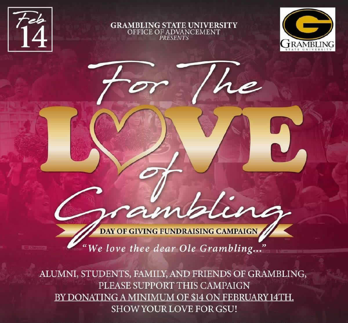 For the Love of Grambling Fundraising Campaign