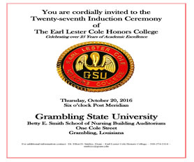 27th Induction Ceremony of the ELC Honors College