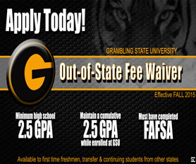 Out-of-State Fee Waivers are available, Click here for the information.