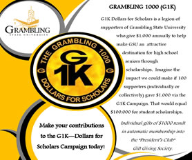 Grambling 1000 (G1K) Giving Campaign