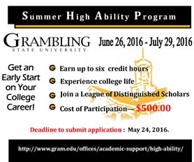 2016 Summer High Ability Program