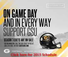 GSU Tiger Football Season Tickets are available, Click here for the 2015 Schedule.