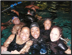 GSU ROTC Training swimming