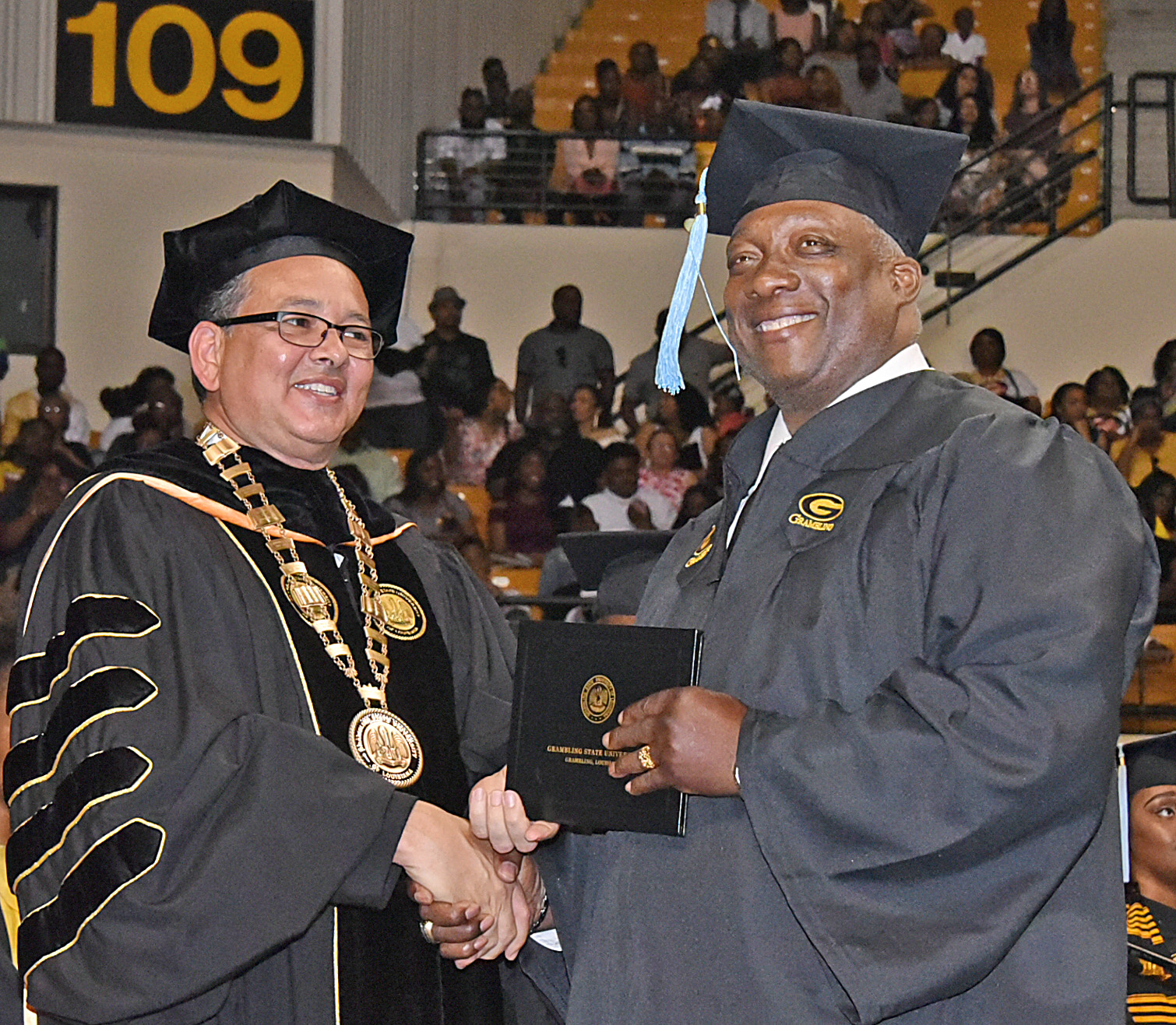 Robert Parham receives diploma