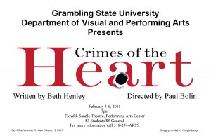 GSU Theatre Presents Crimes of the Heart