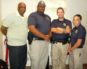 Four Officers from GSU Police Department Graduate from Police Academy PR Photo - Summer 15