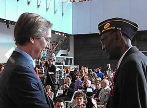 Lamore Carter receives the Legion of Honor Medal from French Consul General Jean-Claude Brunet.