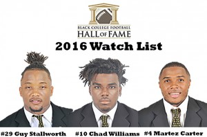 Three G-Men Named to Black College Hall of Fame Watch List