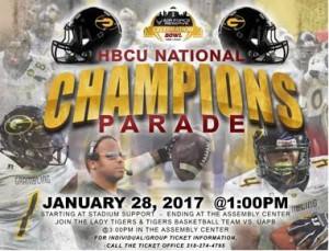 HBCU Championship Parade - Jan. 28, 1pm. GSU Campus