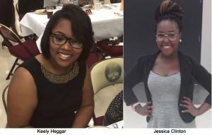 GSU NAACP Scholars - Keely Heggar  and Jessica Clinton