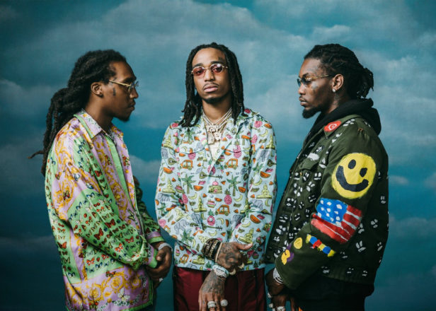 Migos, a group of three young men -- Quavo, Offset and Takeoff