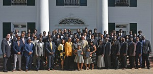 The 2016 HBCU national championship football team is recognized by Gov. Edwards, state representatives and state senators during a special Baton Rouge visit
