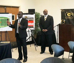 Grambling State athletics and advancement leaders host potential university investors seeking partnerships to advance athletics, education