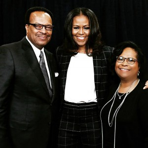 Alana and Oneal Robinson with Michelle Obama