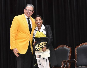 GSU President Rick Gallot and Judge Lynn Toler