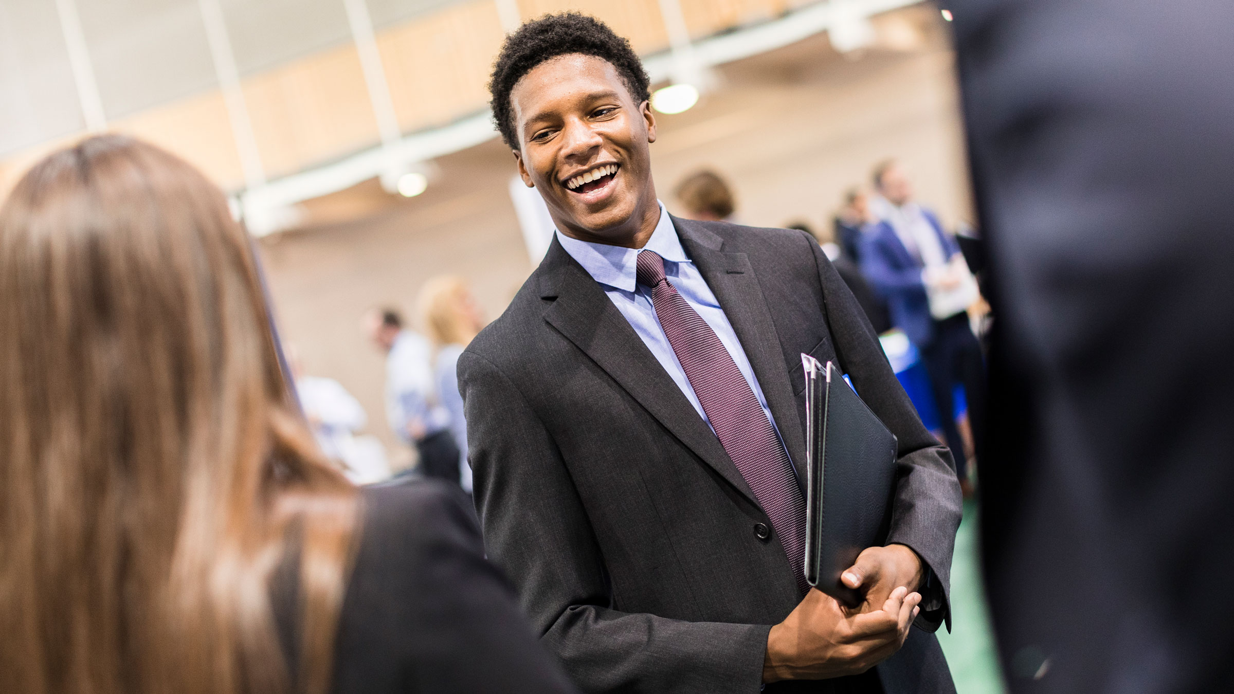 Quinnipiac University wide Career Fair Monday, Oct. 16, 2017, in the Recreation Center Courts on Quinnipiacís Mount Carmel Campus.