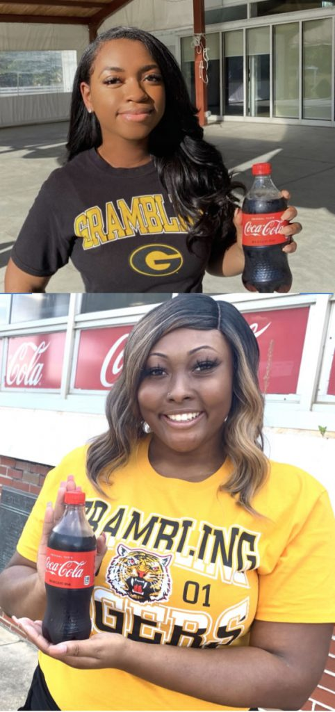 "GSU Coca-Cola ""Pay it Forward"" Interns 2020, Jasmine Franklin and Lindsey Johnson"
