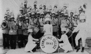 Far right: Drum major Velma Patricia Patterson, 1952.