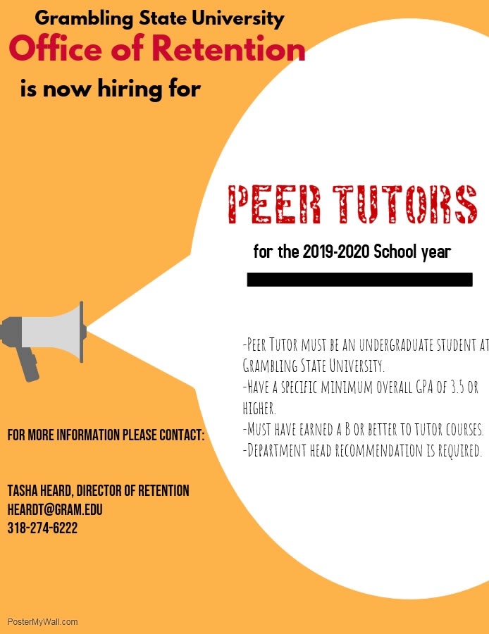 Peer Mentoring Application Flyer