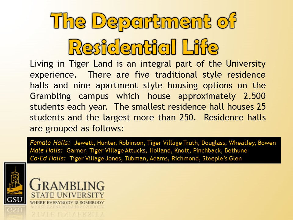 Residential Life Slideshow - Slide 2