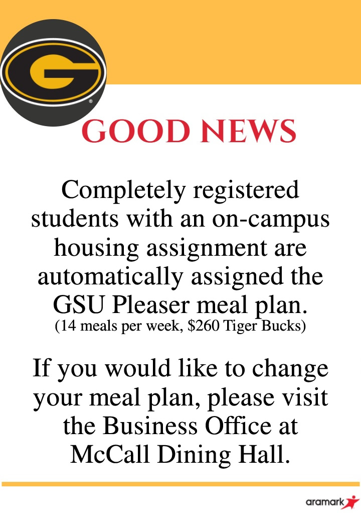 Meal Plan Notice